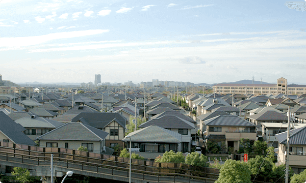 西区 住宅街の風景