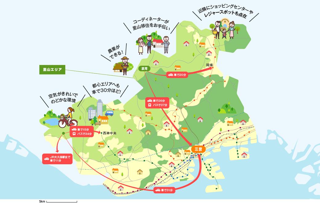 里山エリアのマップイメージ