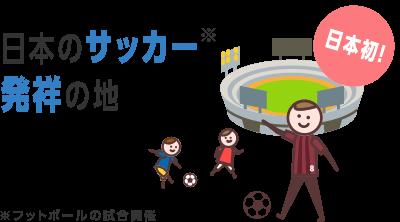 日本初! 日本のサッカー※発祥の地 ※フットボールの試合開催