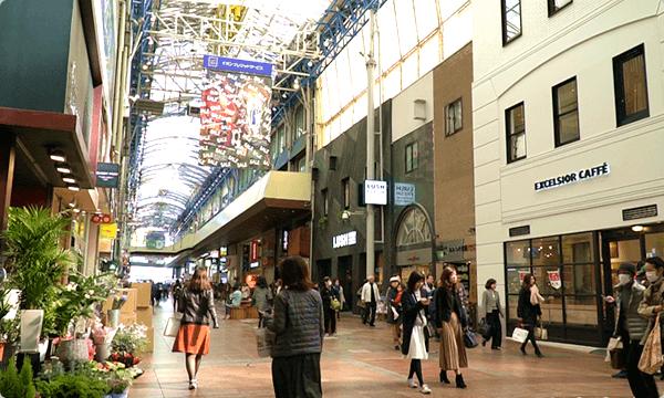 神戸三宮センター街 街並み