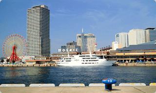 神戸メリケンパークからの景色