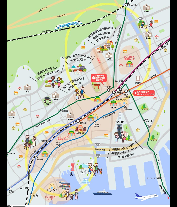 都心エリアのマップイメージ
