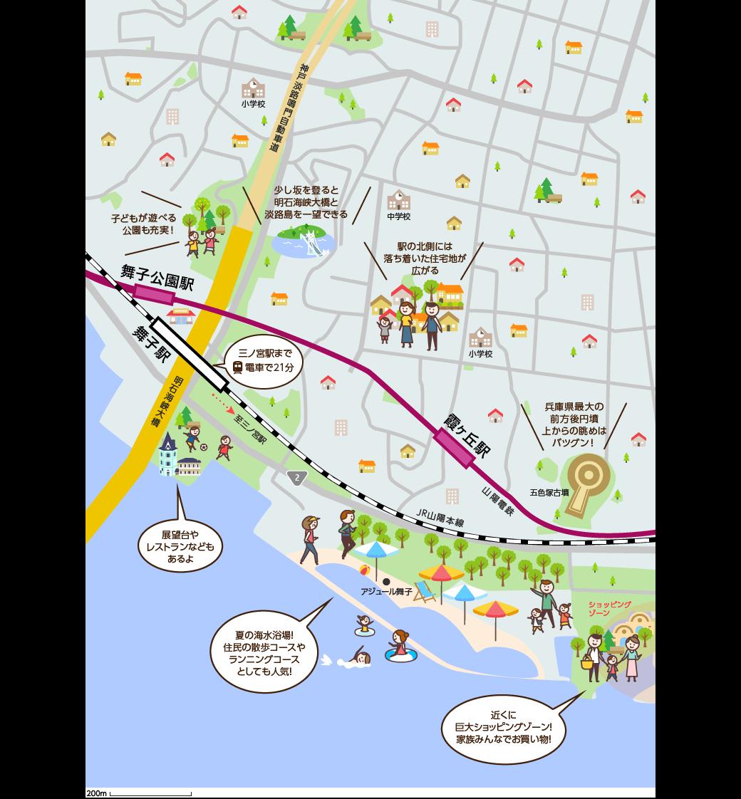 舞子(まいこ)周辺のマップイメージ